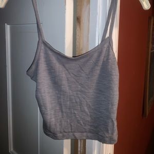 Nollie Crop tank top from Pac Sun• Gray